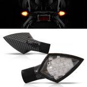 Pisca Moto Esportivo Led Universal 004 Carbon Par