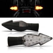 Pisca Moto Esportivo Led Universal 007 Preto Par