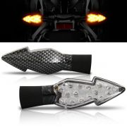 Pisca Moto Esportivo Led Universal 008 Carbon Par
