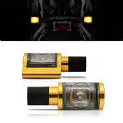 Pisca Moto Esportivo Led Universal 012 Dourado Par