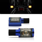 Pisca Moto Esportivo Led Universal 013 Azul Par