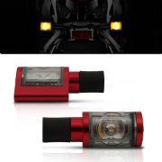 Pisca Moto Esportivo Led Universal 014 Vermelho Par