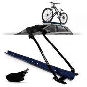 Rack Transbike De Teto Azul  Suporte Para 1 Bike