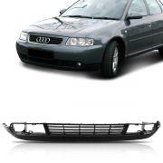 Saia Spoiler Parachoque Dianteiro Audi A3 2001 2002 2003 2004 2005 Preto Com Furo
