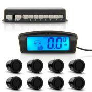 Sensor De Estacionamento Com Display De Lcd 8 Pontos Preto