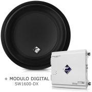 Subwoofer Bobina Dupla Xd1000-12 + Módulo Digital Sw1600 Dx