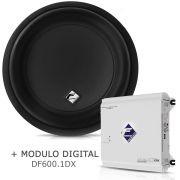 Subwoofer Bobina Dupla Xd1400-12 + Módulo Digital Df600.1dx