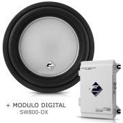 Subwoofer Bobina Simples Xs400-10 + Módulo Digital Sw800 Dx