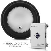 Subwoofer Bobina Simples Xs400-12 + Módulo Digital Sw800 Dx KIT51104