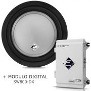 Subwoofer Bobina Simples Xs400-8 + Módulo Digital Sw800 Dx KIT51095