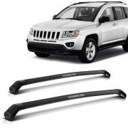 Travessa Rack Teto Jeep 2012 2013 2014 2015 2016 2017 Compass Larga Preto
