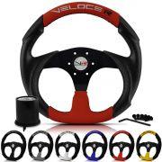 Volante Esportivo F1000 Até 93 Veloce Racing Centro Preto + Cubo