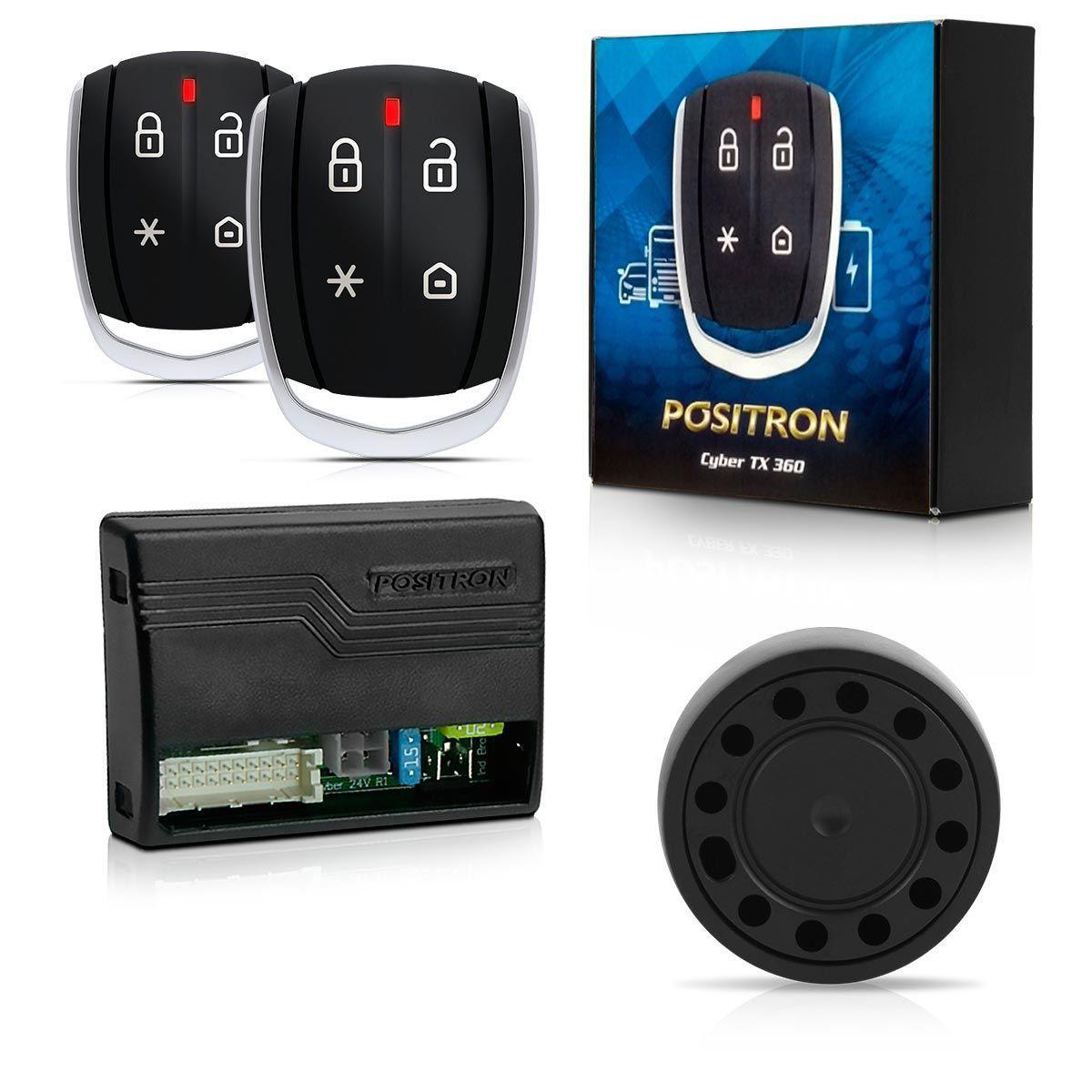 Alarme Automotivo Caminhão 12 24 Volts Cyber Tx360 Com Controle