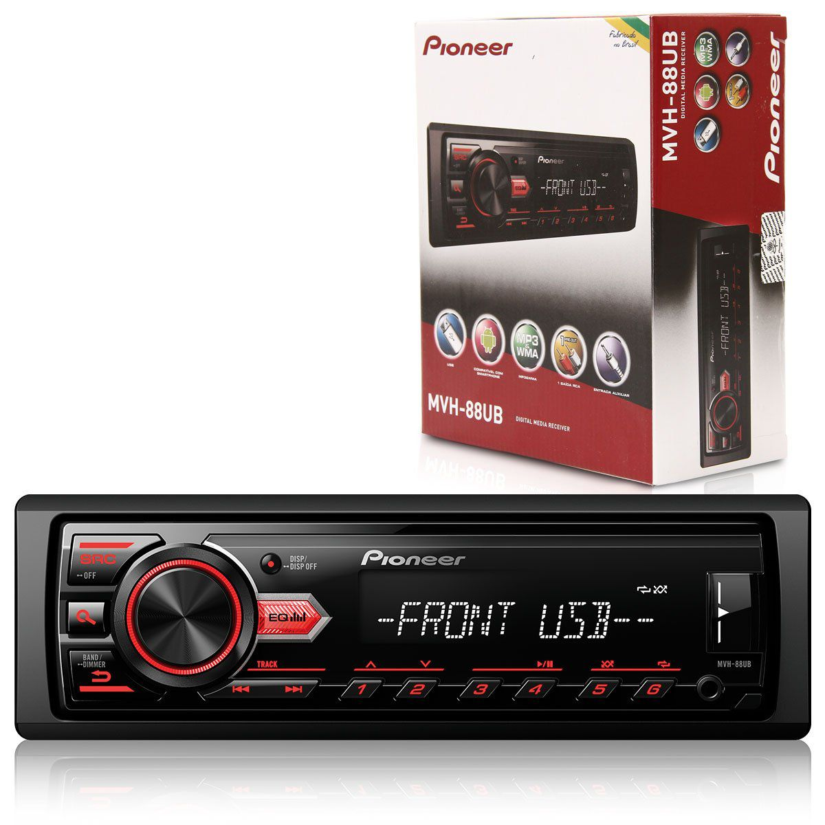 Auto Radio Pioneer Mp3 Usb Am Fm