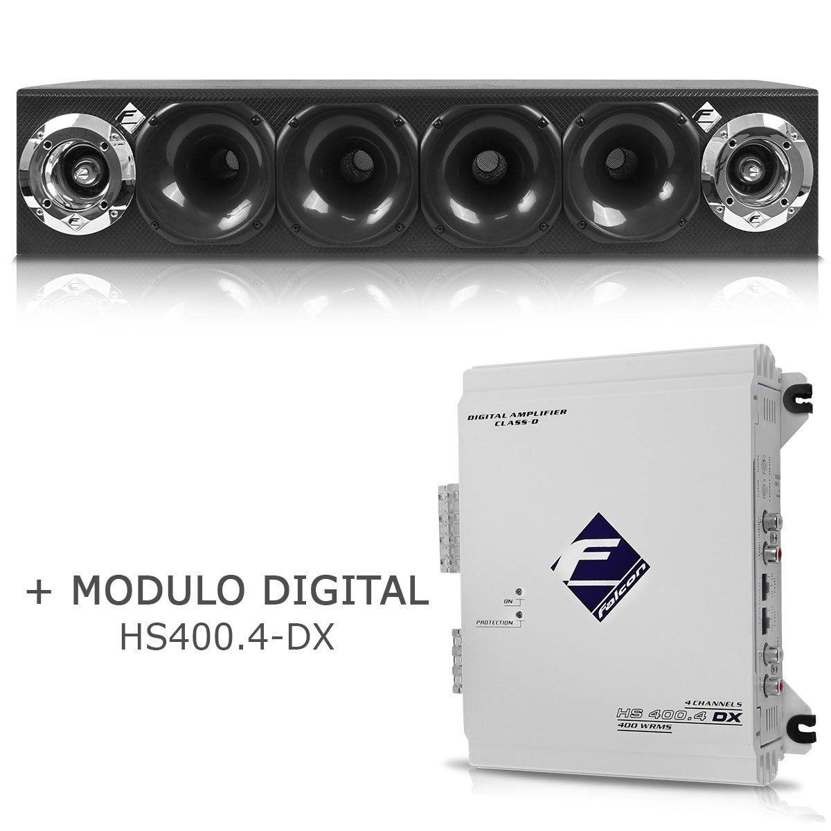 Caixa Corneteira Falcon Cxc-4x2 + Módulo Digital Hs400.4 Dx