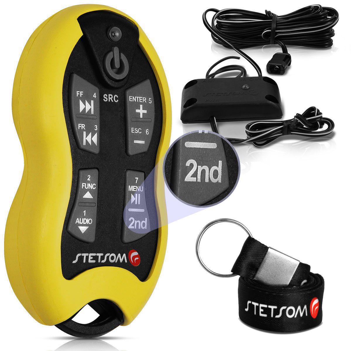 Controle Stetsom De Longa Distância Até 500M 16 Funções Sx2 Amarelo