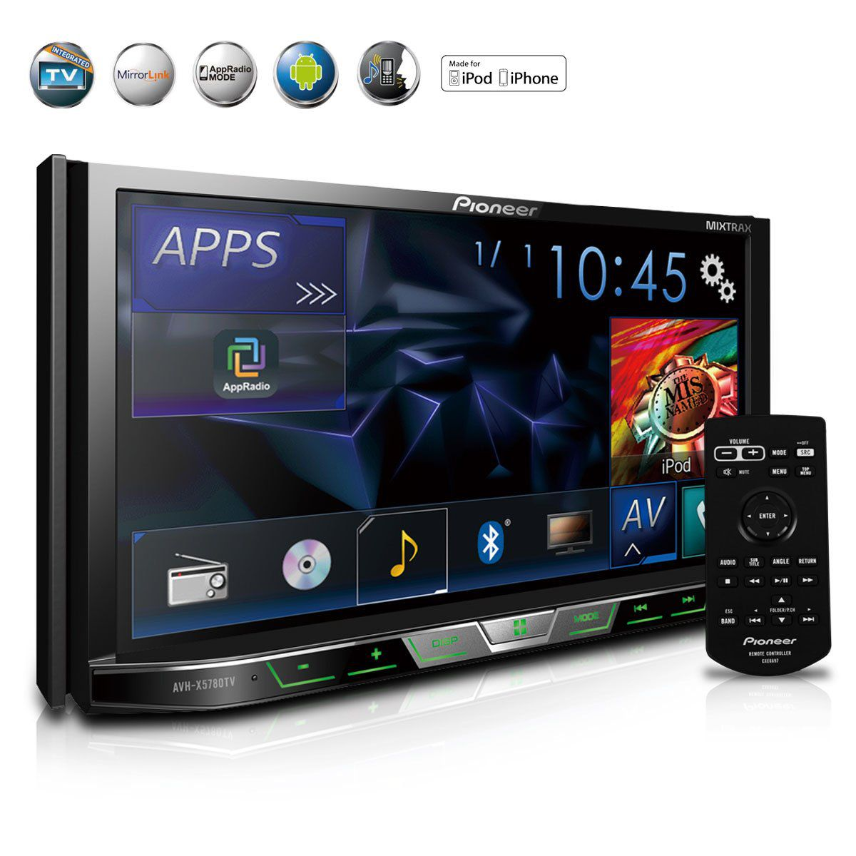 Dvd Player 2-Din Com Tv Digital Bluetooth Usb Mixtrax