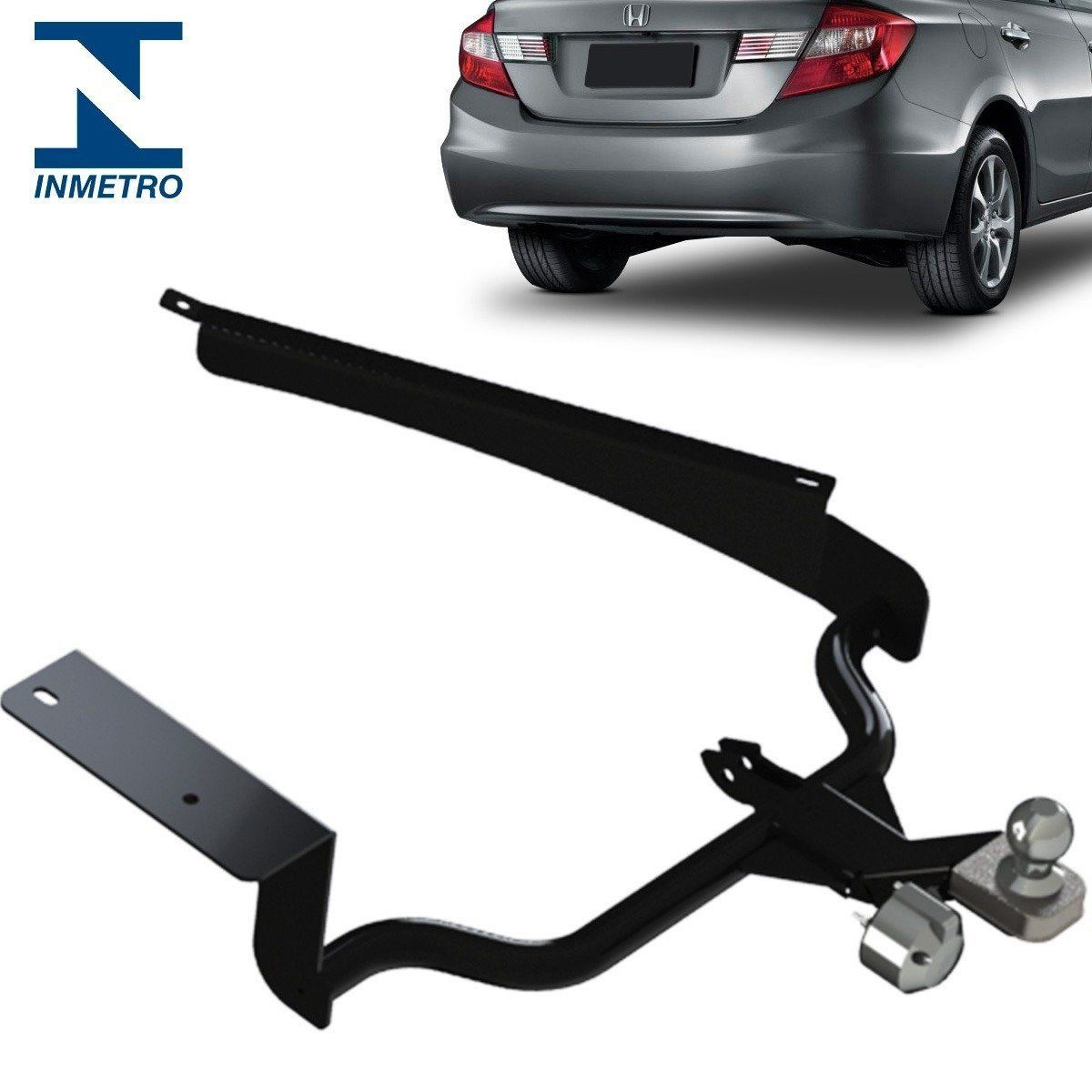 Engate Reboque Civic 2012 2013 2014 2015 2016 Fixo 700 Kg