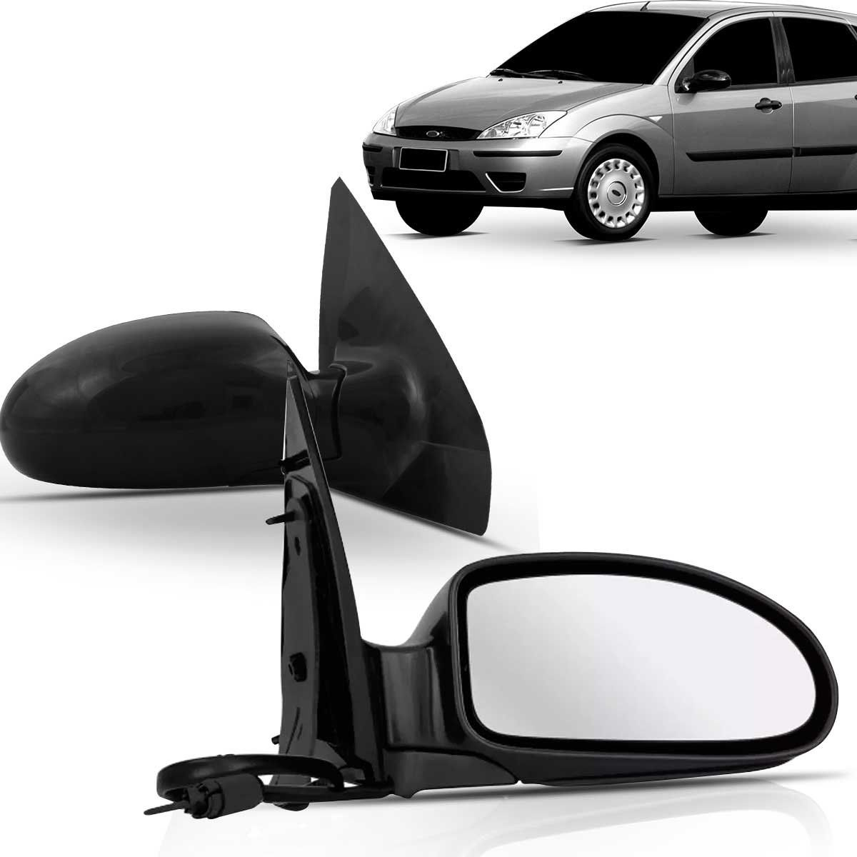 Espelho Retrovisor Externo Focus 2002 2003 2004 2005 2006 2007 2008 Controle Interno