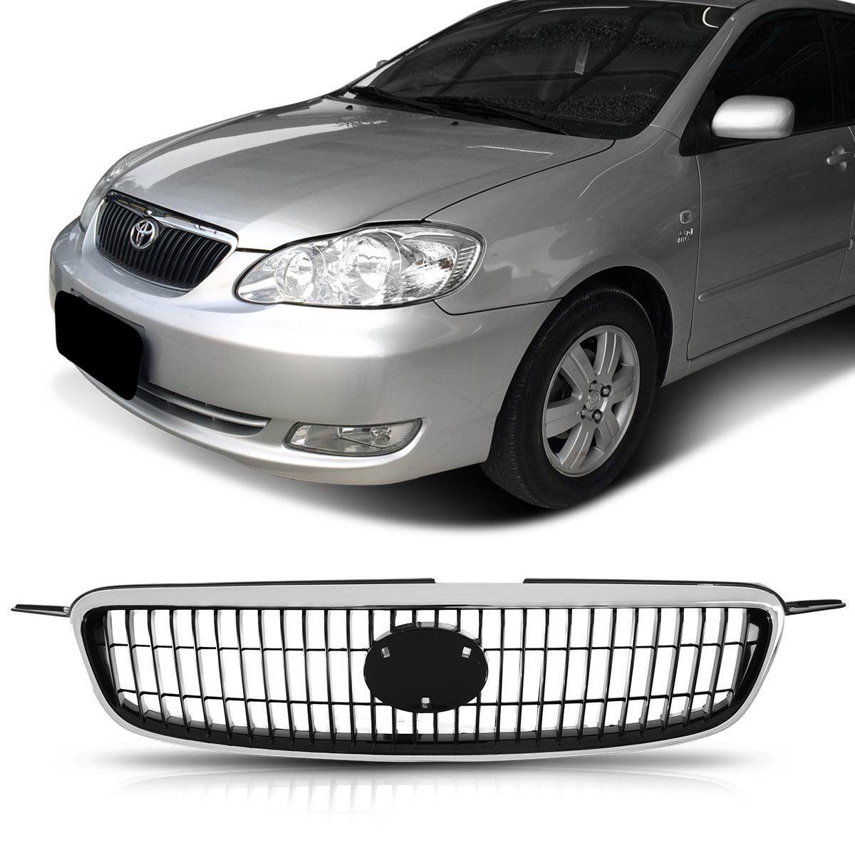 Grade Dianteira Corolla Seg Fielder 2003 2004 2005 2006 2007 Cromada