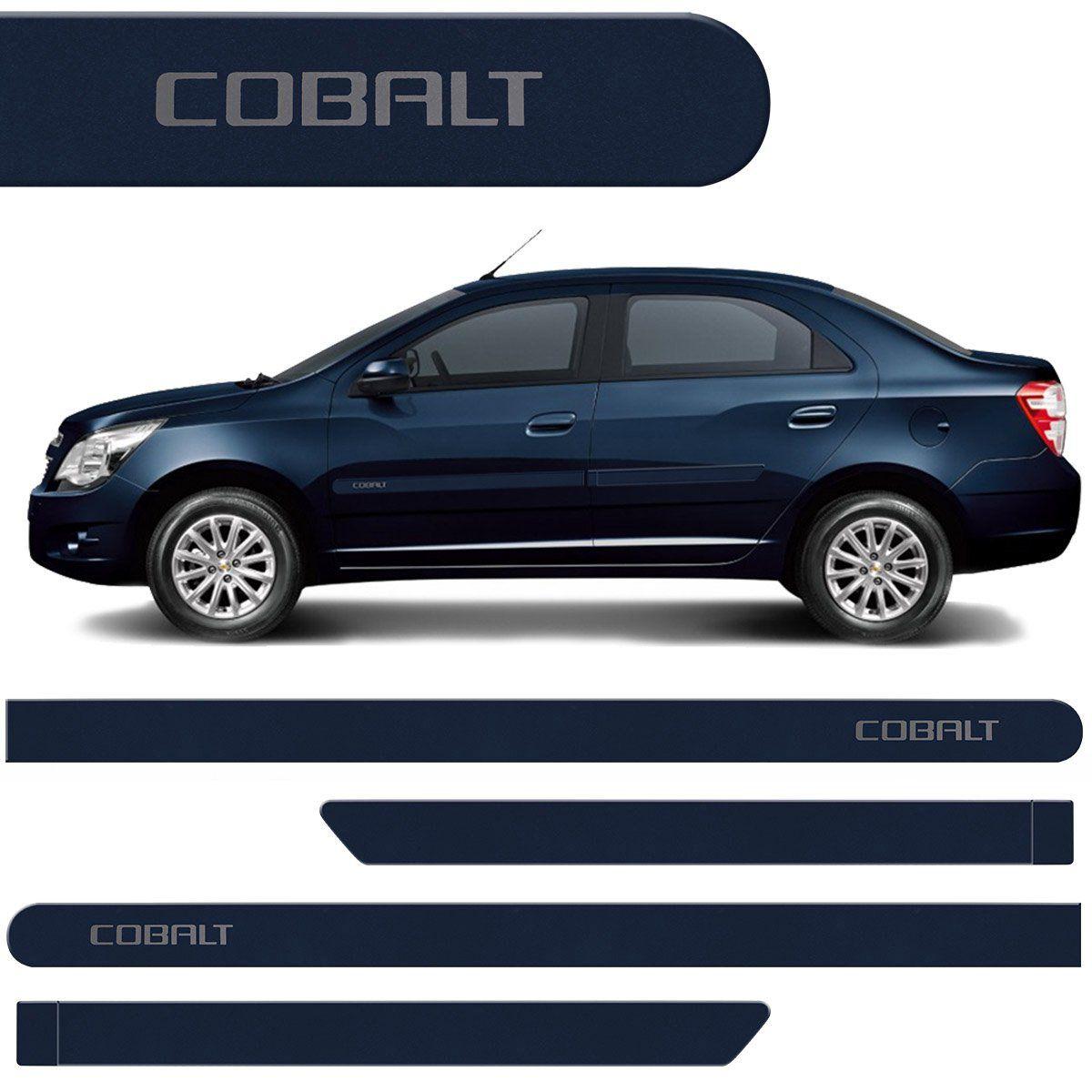 Jogo Friso Lateral Cobalt 2012 2013 2014 2015 Azul Macaw