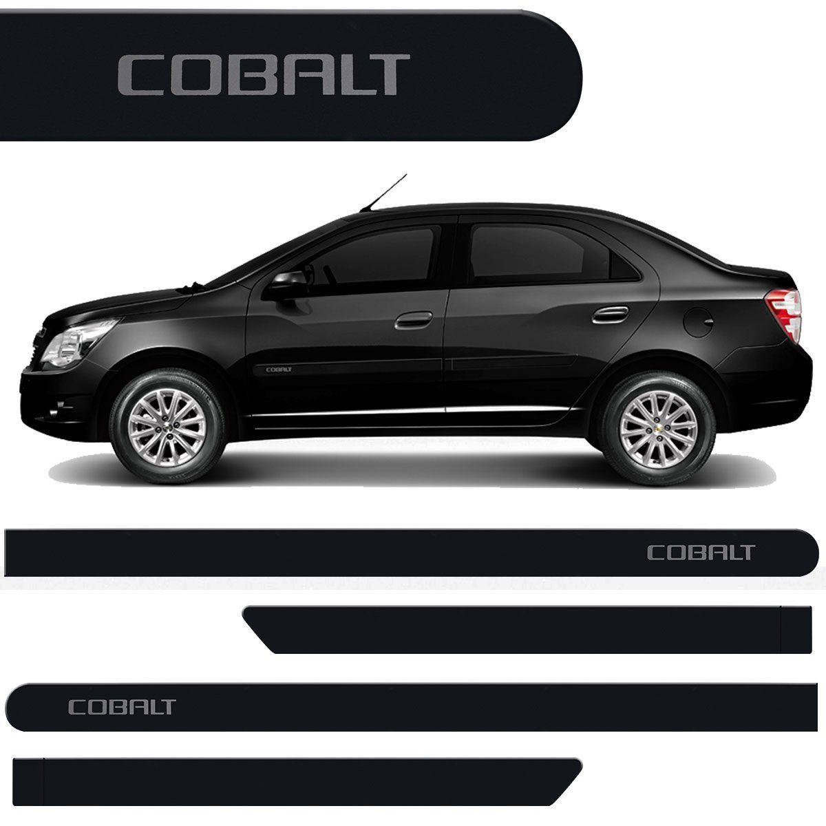 Jogo Friso Lateral Cobalt 2012 2013 2014 2015 Preto Carbon