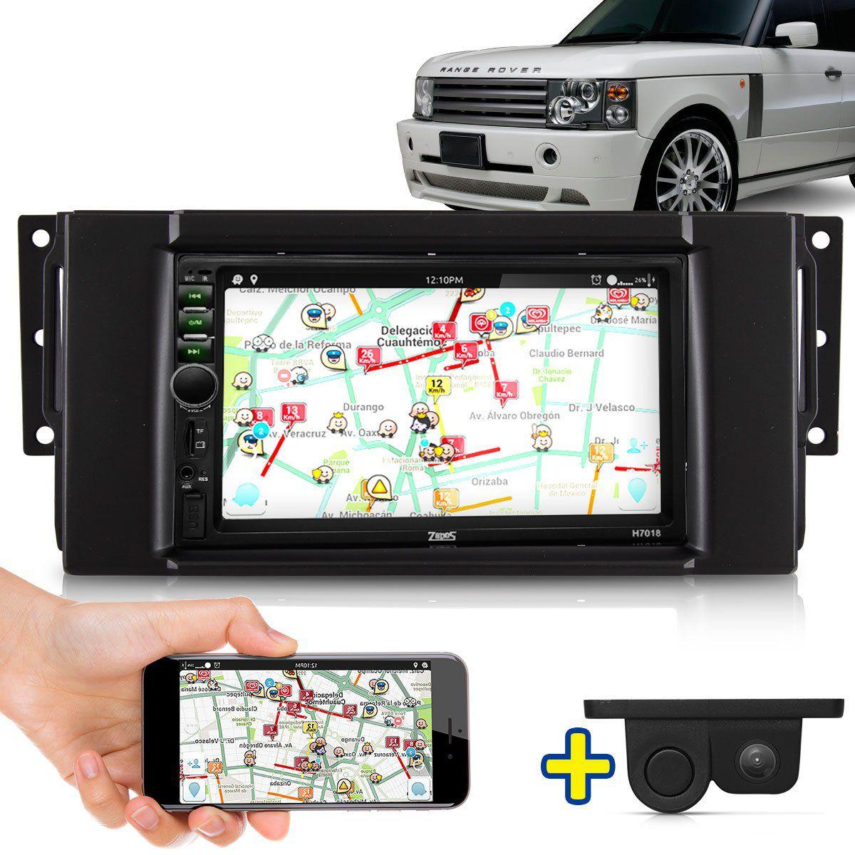 Kit Multimidia Mp5 Range Rover 06 07 08 09 10 11 12 13 14 15 16 + Moldura Câmera Ré Sensor