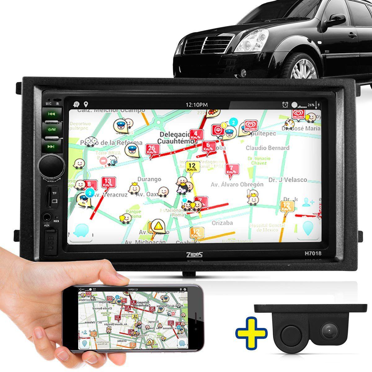 Kit Multimidia Mp5 Ssangyong Rexton 06 07 08 09 10 + Moldura Câmera Ré Sensor