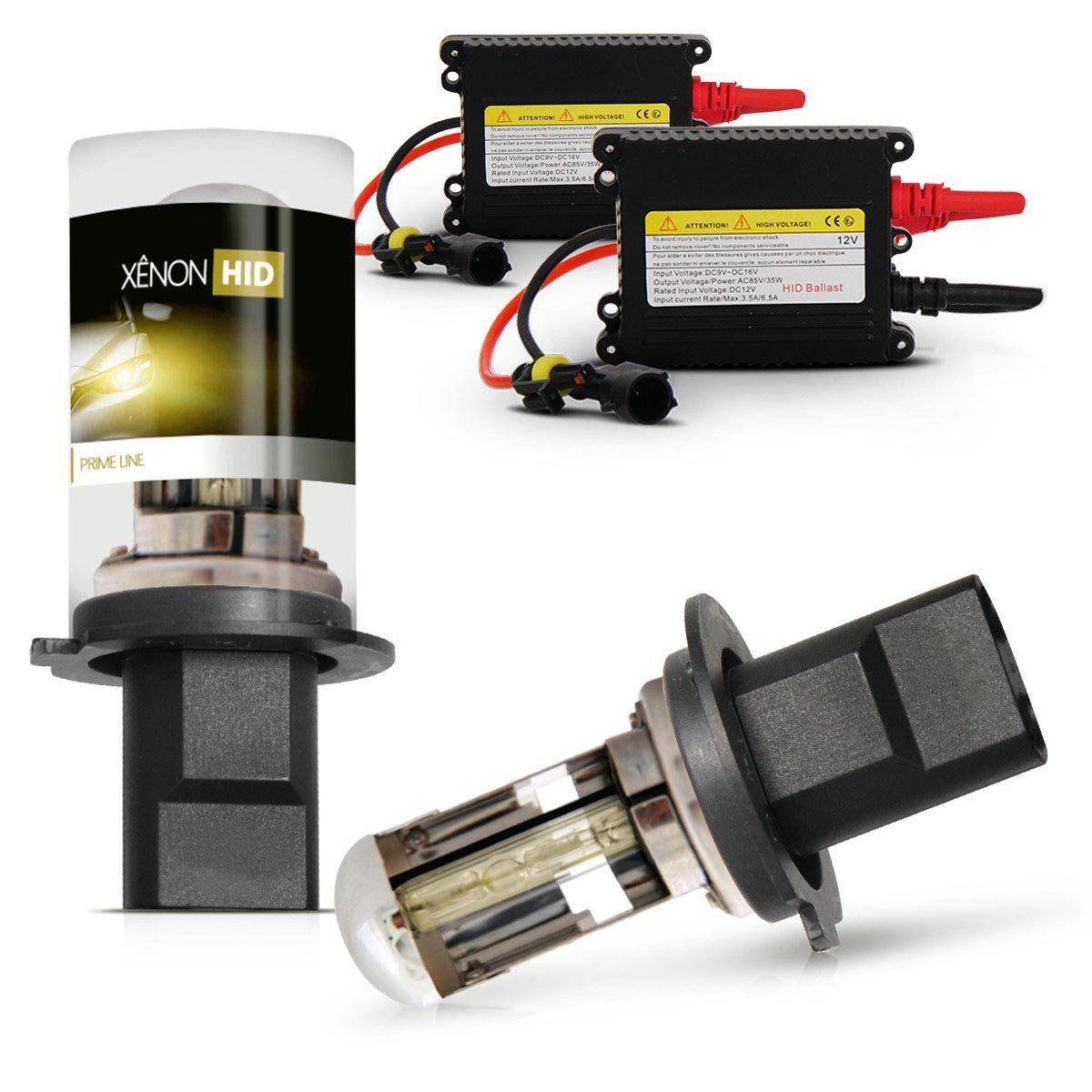 Kit Xenon H4-3 12V 3000K DC Baixo/Alto Gold