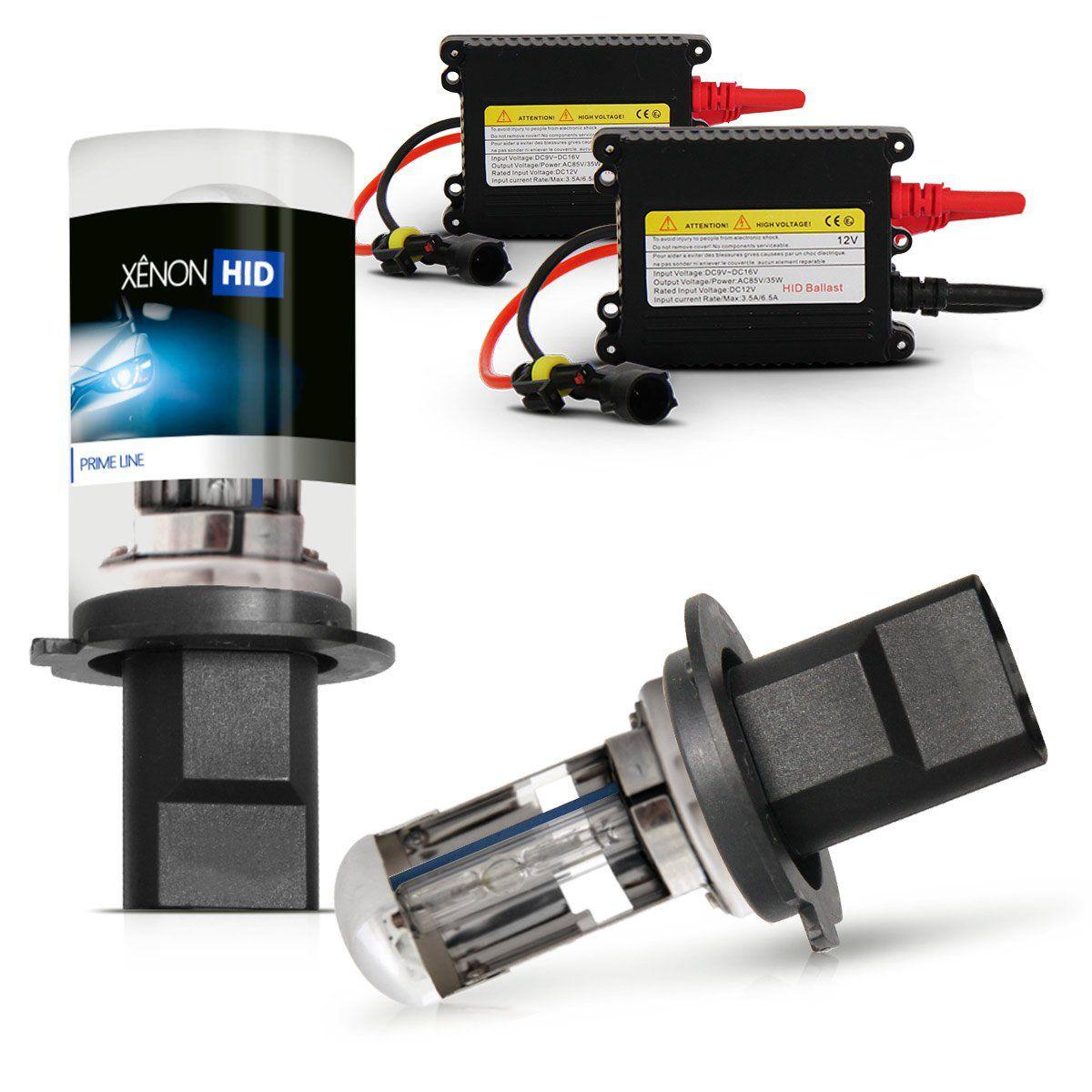 Kit Xenon H4.3 12V 8000k DC Baixo/Alto
