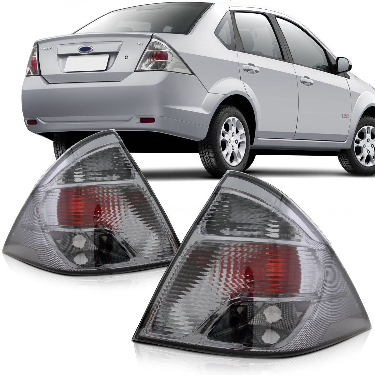 Lanterna Fiesta Sedan 2011 2012 2013 2014 Fumê