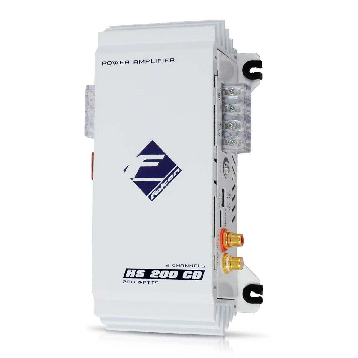 Módulo Amplificador Falcon 2 Canais (mp3/ipod) Hs200 Cd