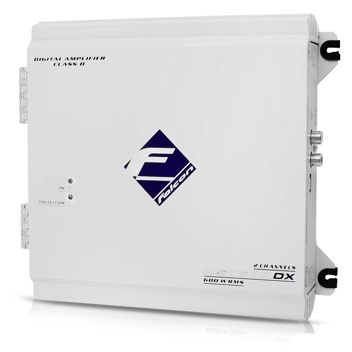 Módulo Amplificador Falcon Hs1600 Dx Digital 600w Rms 2 Can
