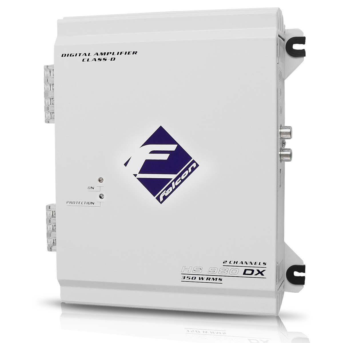 Módulo Amplificador Falcon Hs980 Dx Digital 320w Rms 2 Can