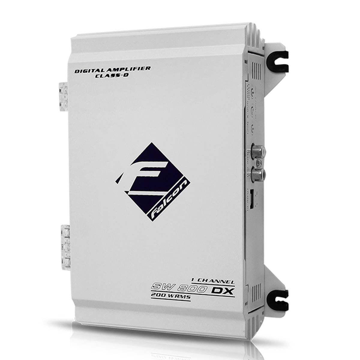 Módulo Amplificador Falcon Sw800 Dx Digital 200w Rms 1 Canal