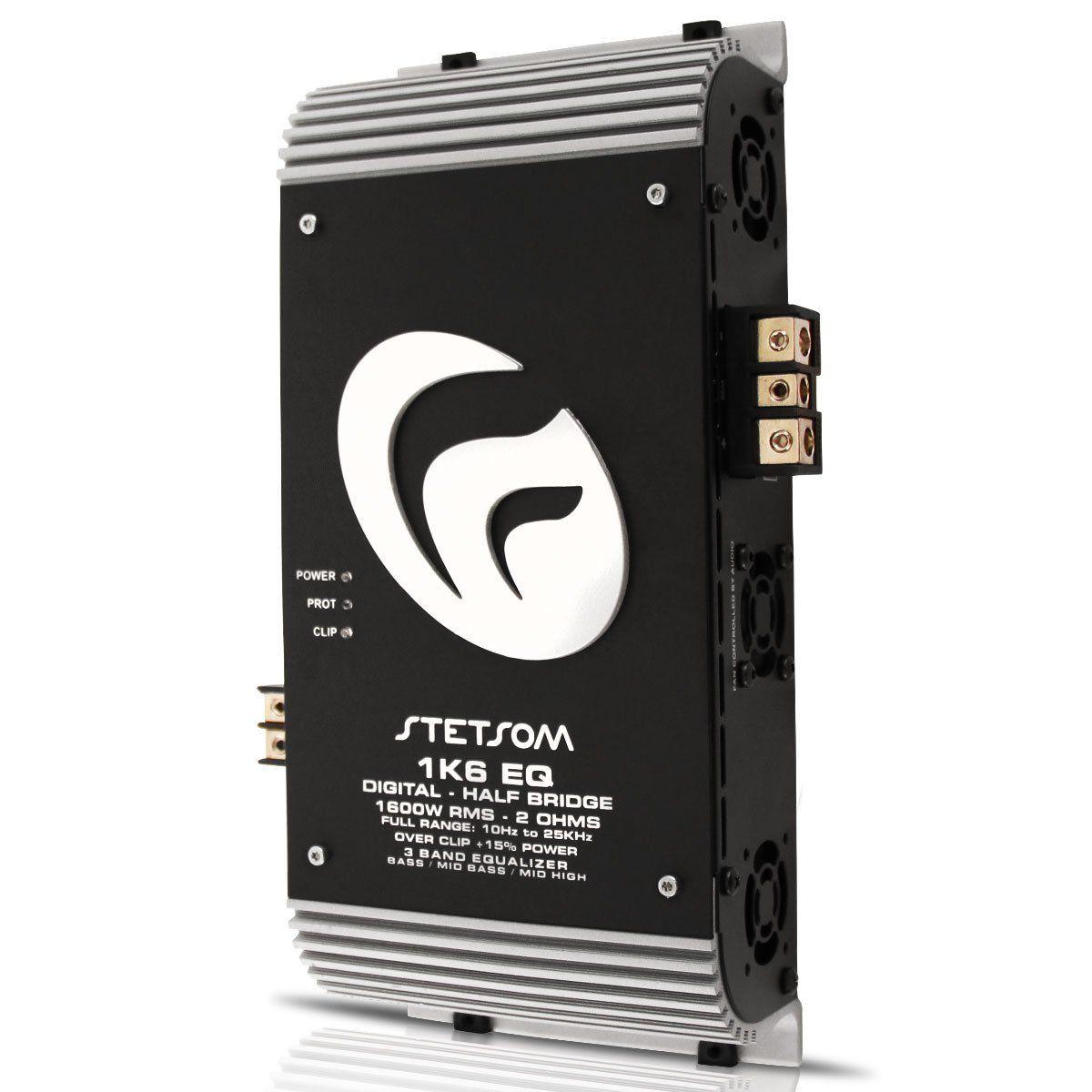 Modulo Amplificador Stetsom 1K6Eq Digital Vulcon 1600W Rms 1 Canal 2 Ohm