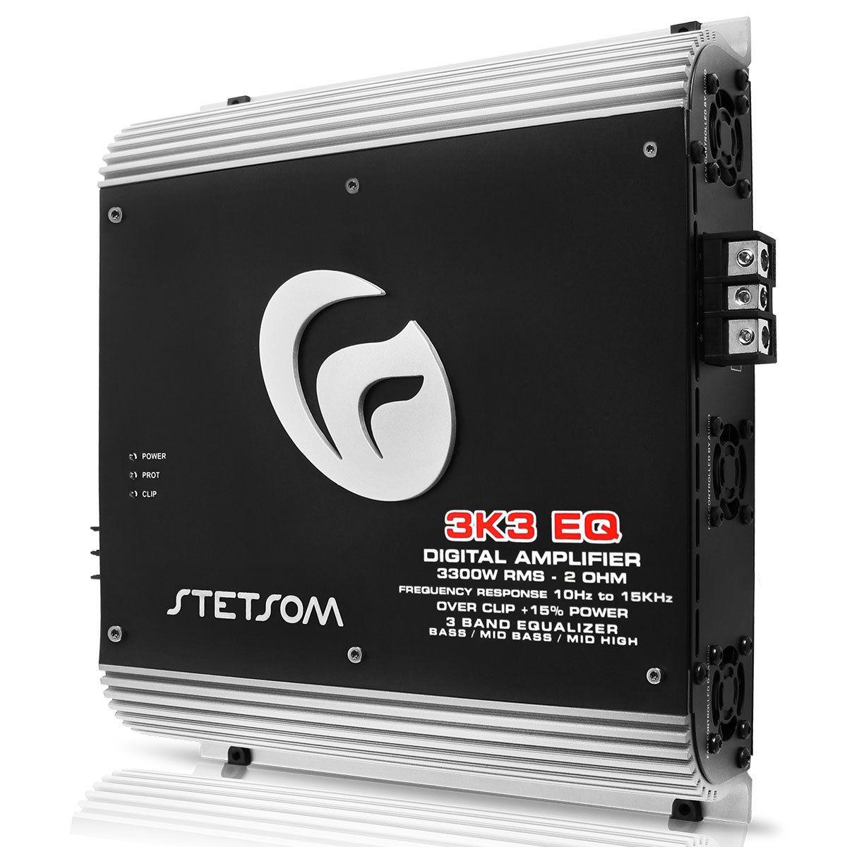Módulo Amplificador Stetsom 3K3Eq2 Digital Vulcan 3300W Rms 1Ch 2 Ohms