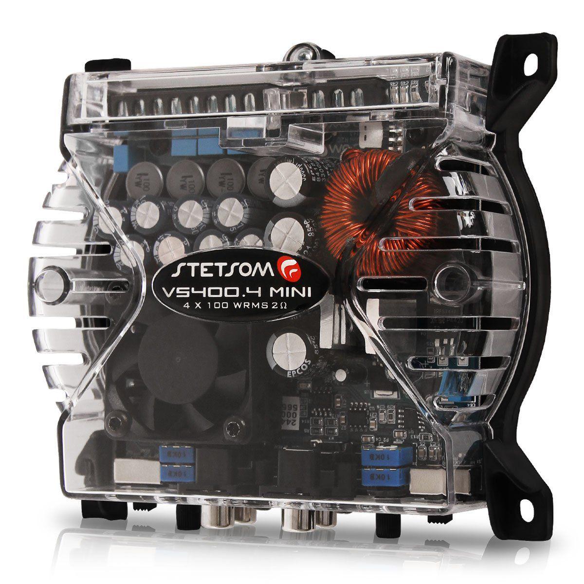 Modulo Amplificador Stetsom Vs400.4 Digital Mini 400W Rms 4 Canais 2 Ohm