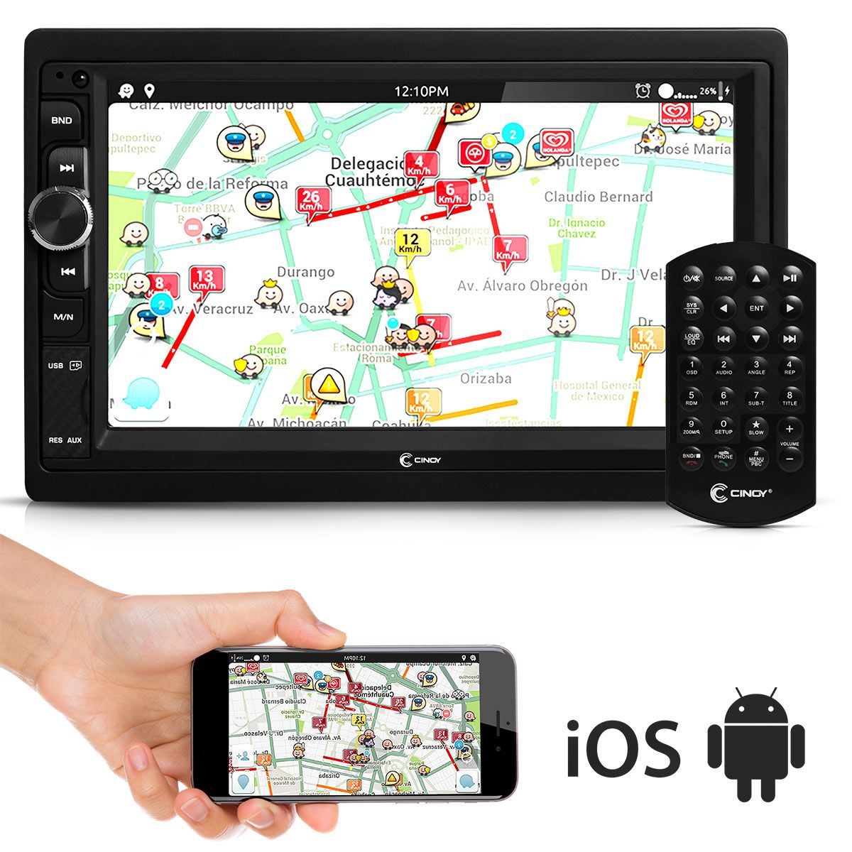 MP5 Multimidia Radio 1080P Bluetooth Espelhamento IOS e Android