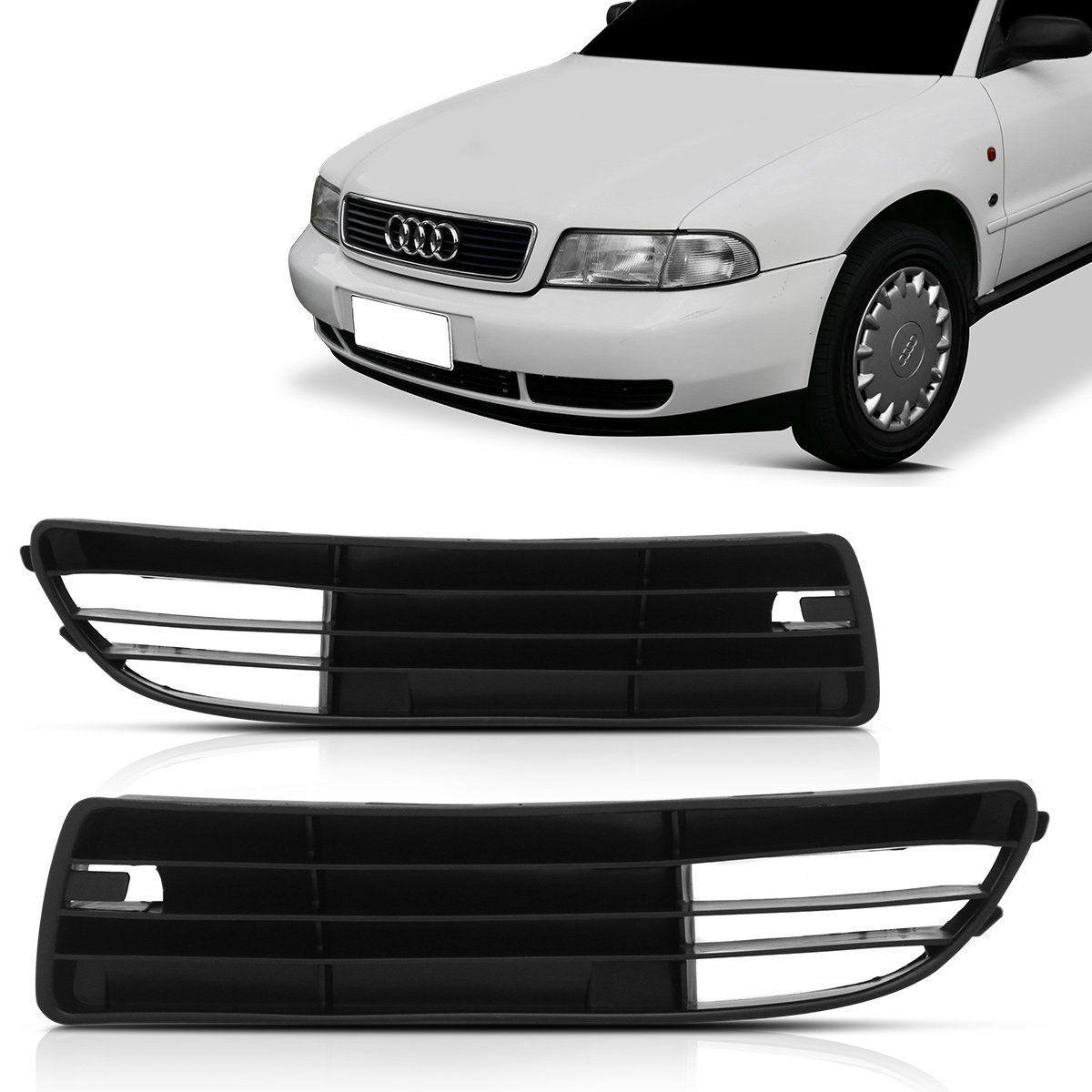 Par Moldura Grade Milha Audi A4 94 95 96 97 98