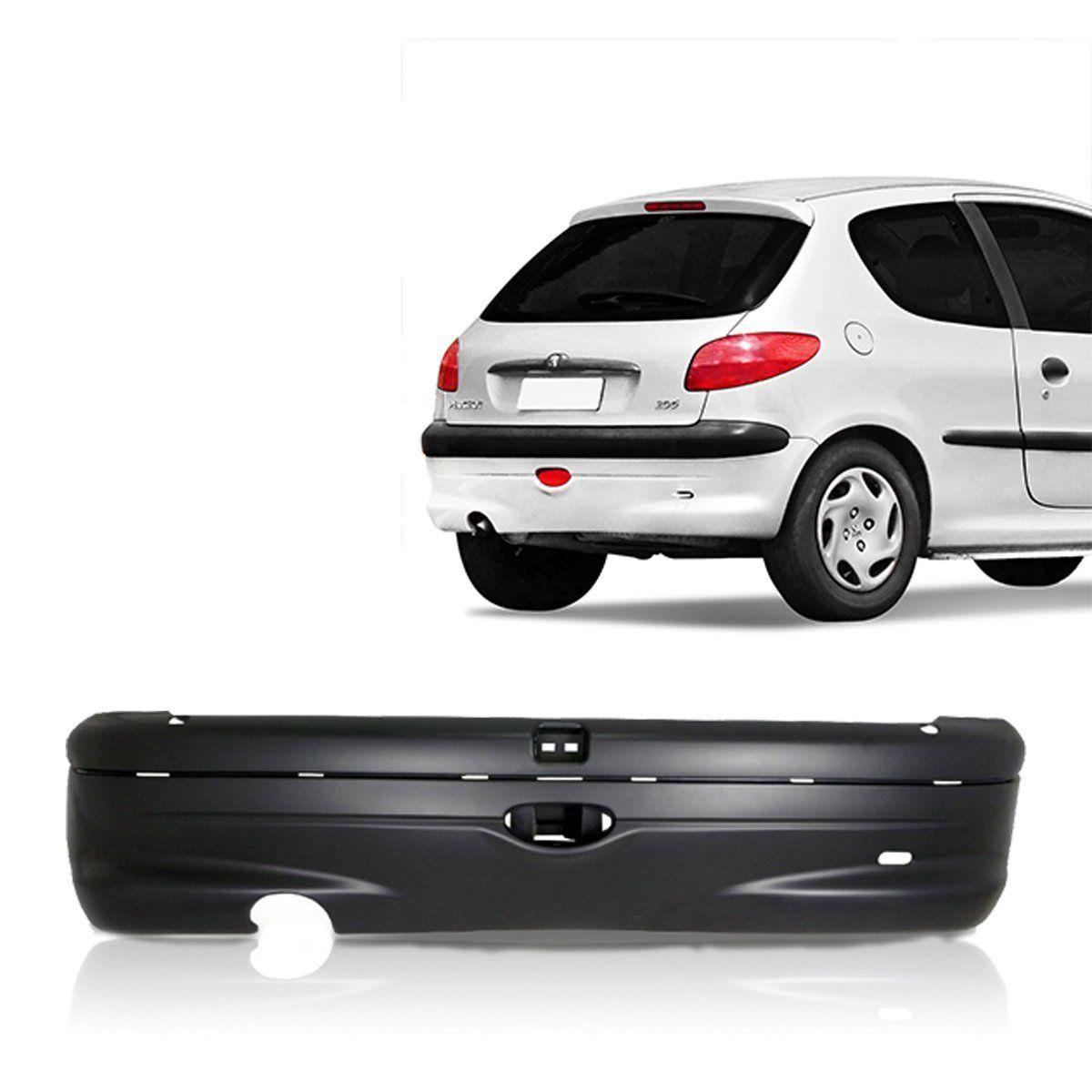 Parachoque Traseiro Peugeot 206 99 2000 2001 2002 2003 2004 2005 2006 Primer