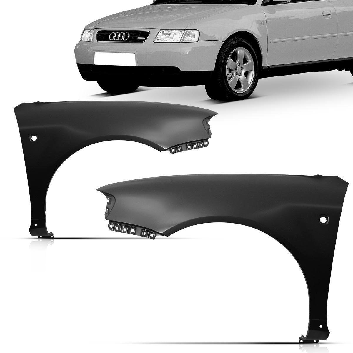 Paralama Dianteiro Audi A3 1996 1997 1998 1999 2000 Com Furo Lado Direito Passageiro