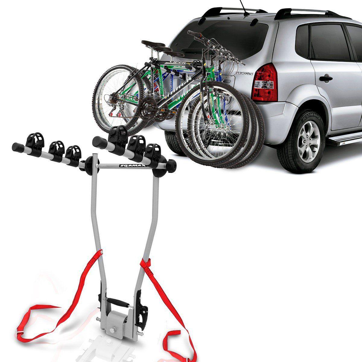 Suporte Transbike Porta Malas 3 Bikes Preto
