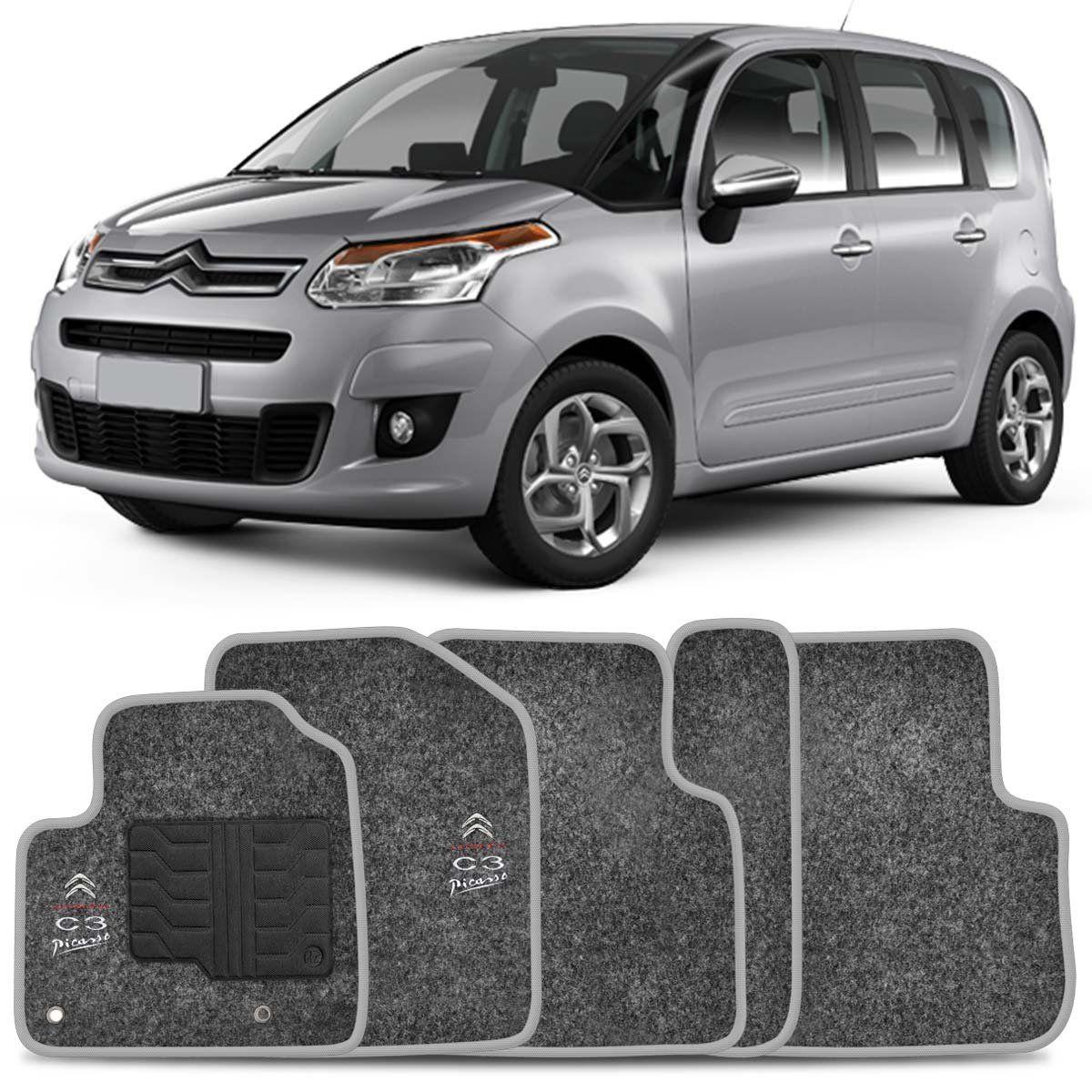 Tapete Carpete Citroën C3 Picasso 2011 2012 2013 2014 2015 Grafite