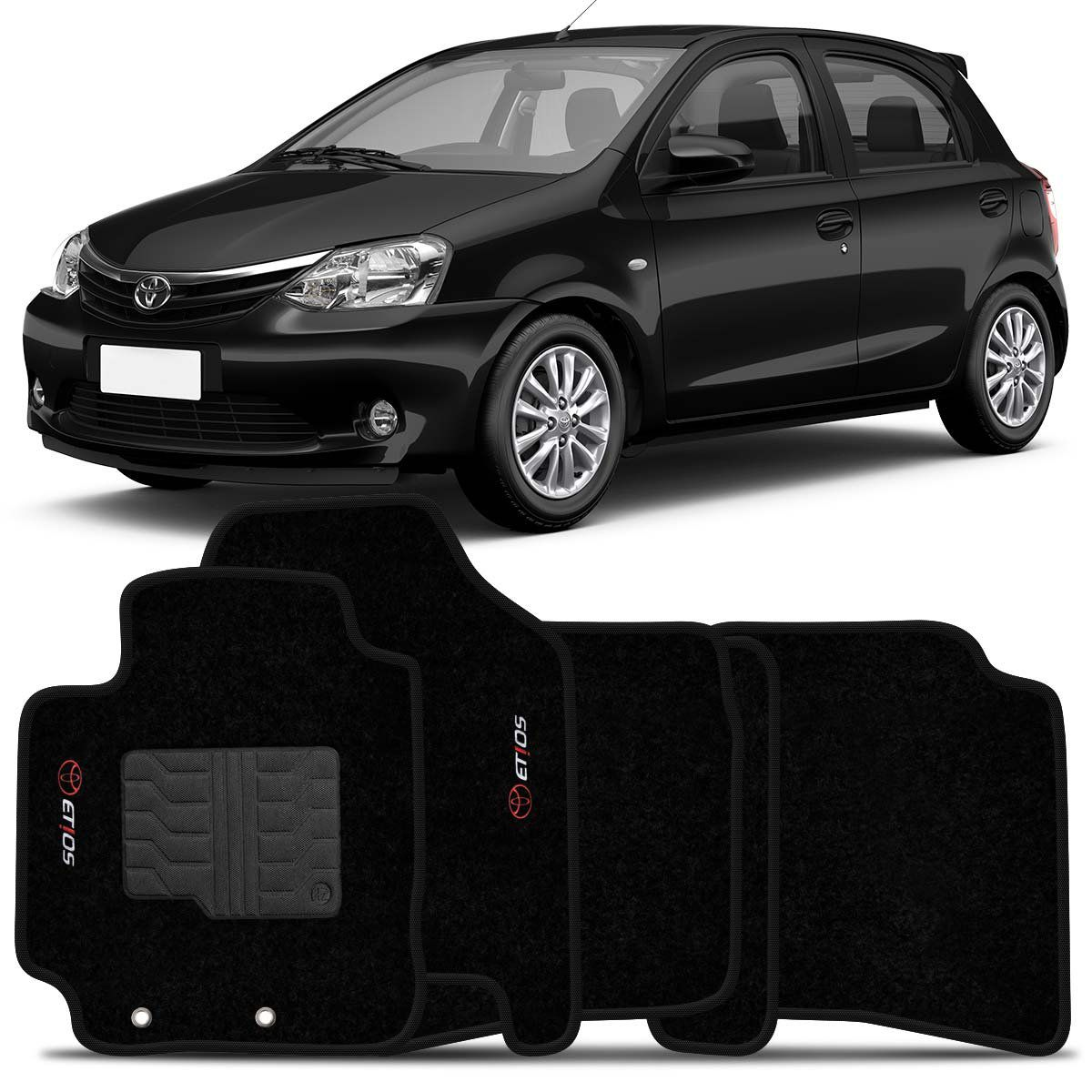 Tapete Carpete Etios Hatch e Sedan 2013 2014 Preto