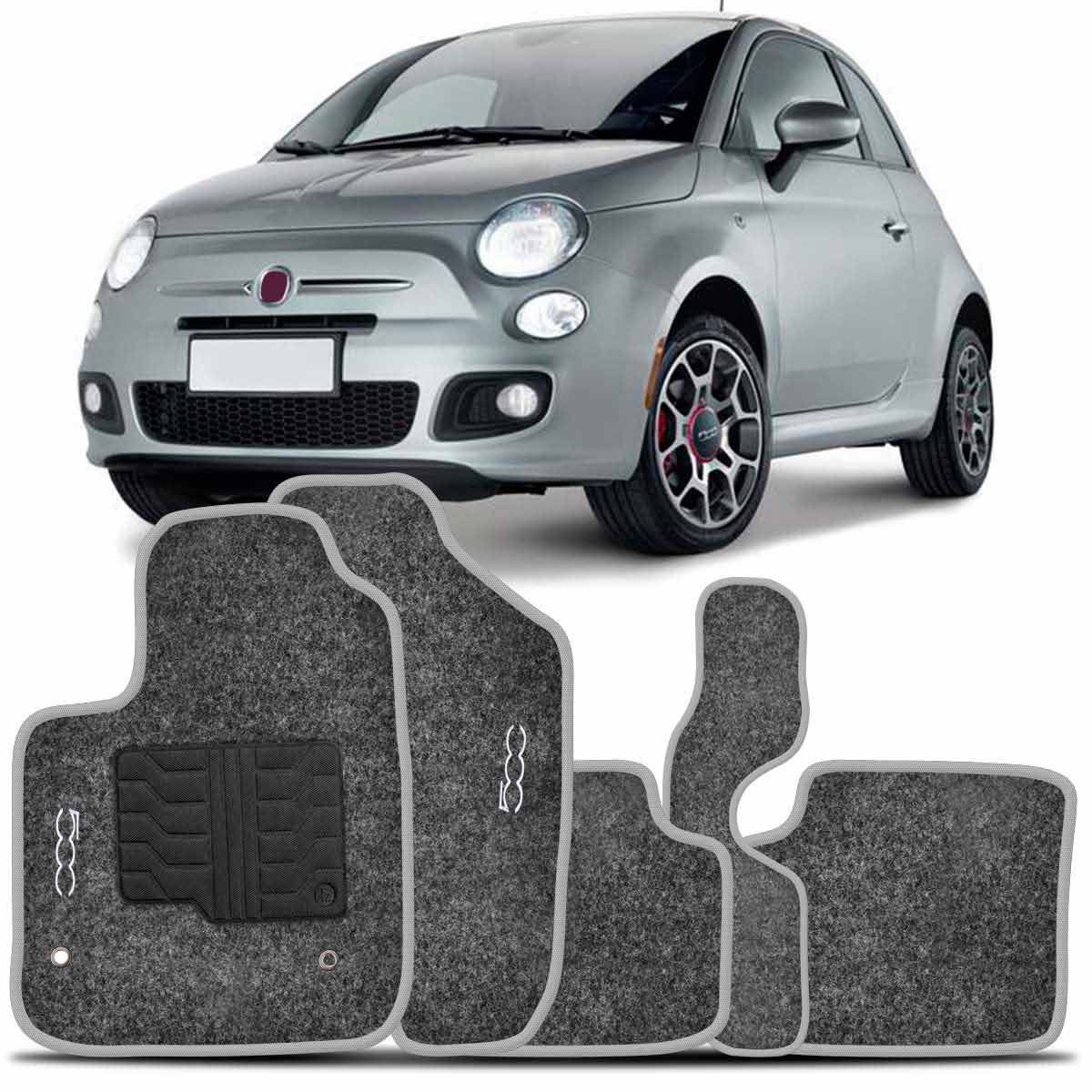 Tapete Carpete Fiat 500 2010 2011 2012 2013 2014 2015 Grafite