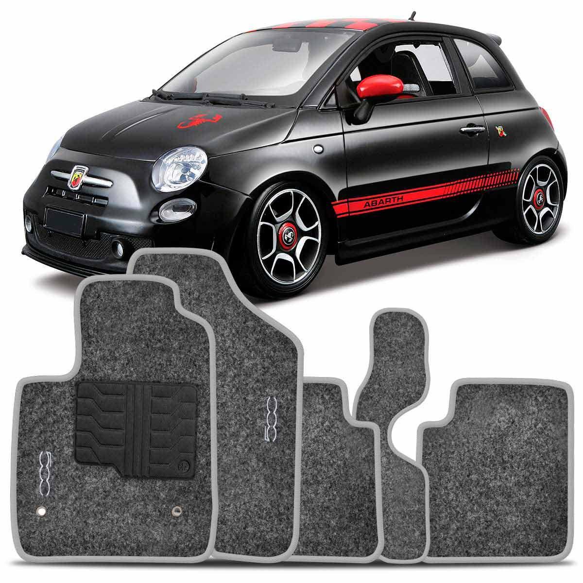 Tapete Carpete Fiat 500 Abarth 2010 2011 2012 2013 2014 2015 Grafite