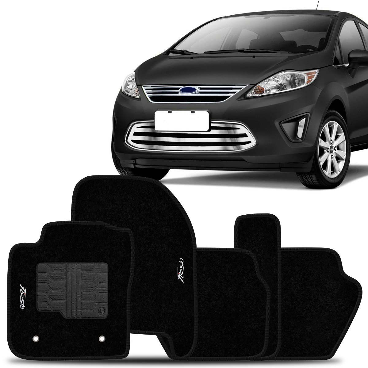 Tapete Carpete New Fiesta 2010 2011 2012 2013 Preto