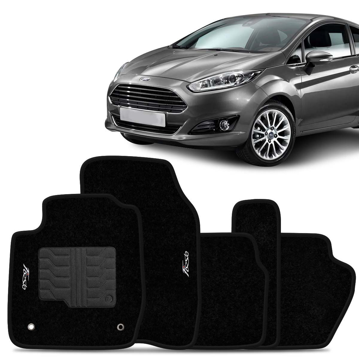Tapete Carpete New Fiesta 2014 2015 Preto