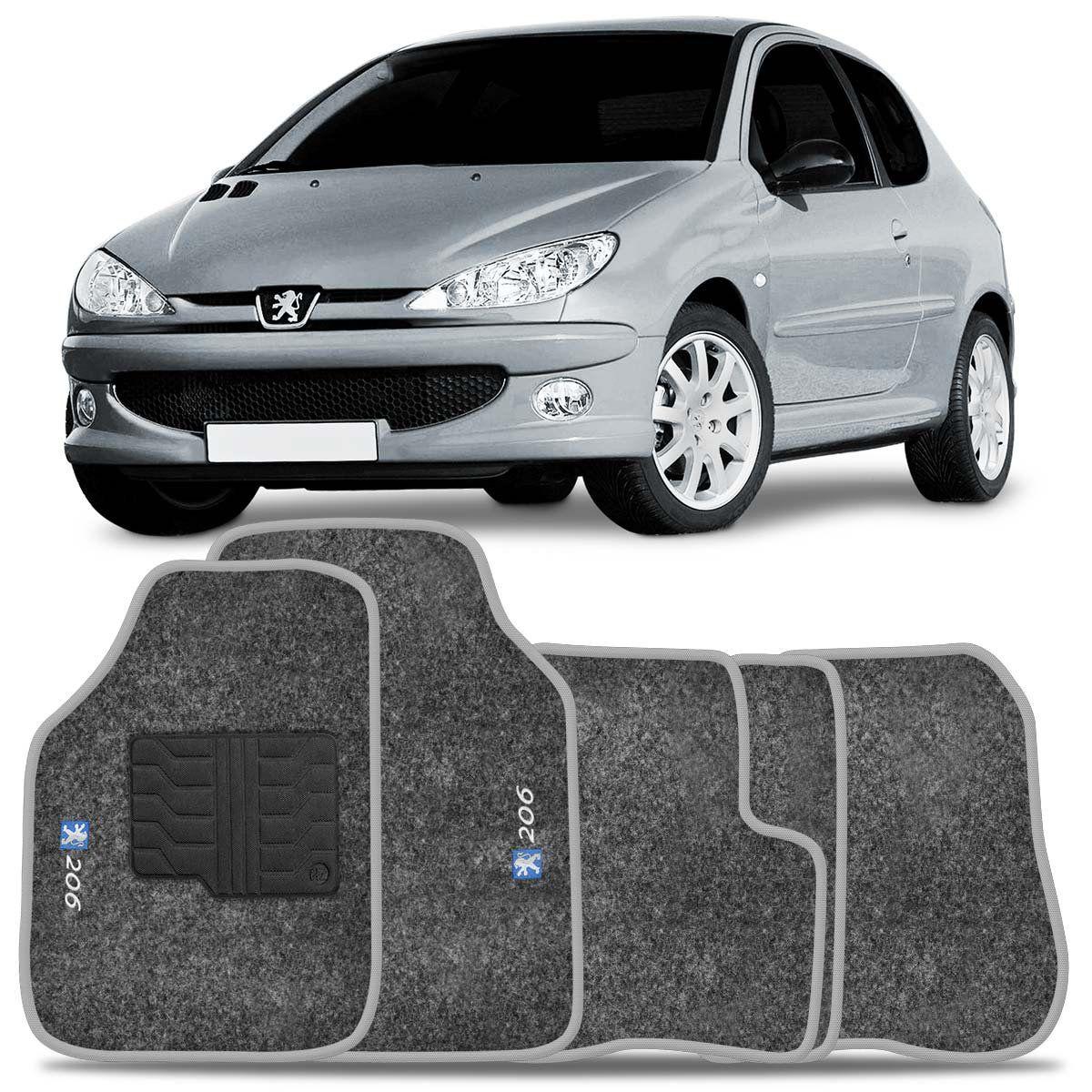 Tapete Carpete Peugeot 206 99 2000 2001 2002 2003 2004 2005 2006 2007 2008 2009 Grafite